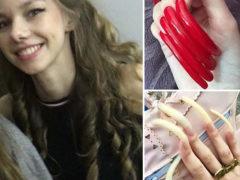 16-летняя студентка Симона Тейлор уже три года не стрижет ногти и не собирается останавливаться