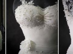 Британские кондитеры создали первое в мире съедобное свадебное платье весом в 70 кг