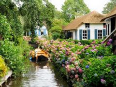 Рай на земле: живописная голландская деревушка, где нет ни одной дороги