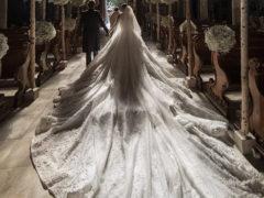 Наследница империи Swarovski вышла замуж в платье весом 46 кг с полумиллионом кристаллов