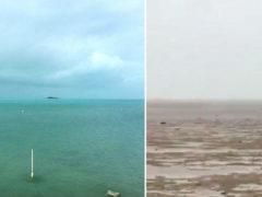 """Редчайший природный феномен! Страшный ураган """"Ирма"""" полностью осушил побережье Багамских островов"""