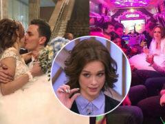 Скандально известная Диана Шурыгина вышла замуж за оператора в платье за 75 тысяч рублей