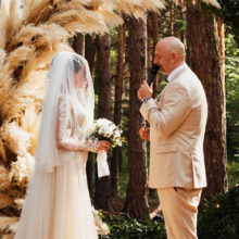 Свадьба Потапа и Насти Каменских: роскошное платье невесты, признание в любви и первый поцелуй новобрачных