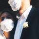 """Новобрачные в защитных масках: актриса из сериала """"Деффчонки"""" Таисия Вилкова сыграла свадьбу в разгар пандемии"""